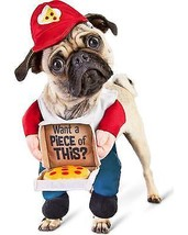 Bootique XL Dog Costume Cheezy Delivery Pup Pizza Hat You Want A Piece o... - $24.99