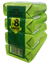 PATANJALI NEEM KANTI BODY CLEANSER SOAP BAR- 100gm X 4 (400gm) - $25.99+
