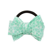 5 PCS Fashion Fresh Style Bow Tie Shape Hair Bands Green Stripe 7.5x5.5cm