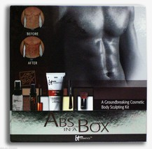 IT Cosmetics Abs in a Box Kit for Men Body Skin Sculpting Ab 6 Pack Kit Make-up - $13.92