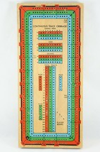Solid Wood 3 Lane Continuous Track Cribbage Board -Track Games Won, Legs... - $28.54
