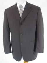 Claudio Morelli Mens Blazer Suit Jacket 40R Brown Striped Wool  - $18.76