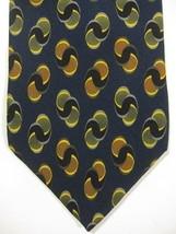 NEW Jhane Barnes Original Fabric Made in Japan Dark Blue and Gold Silk Tie - $29.99