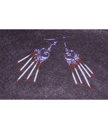 American Made! Chandelier Porcupine quill and beads / Handcraft Dangles ... - $19.56