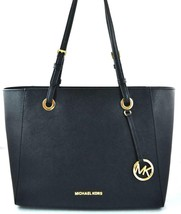 AUTHENTIC NEW NWT MICHAEL KORS $298 LEATHER WALSH BLACK MULTIFUNCTION TOTE - $138.00