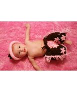 Hand crocheted baby pink cowgirl  costume/photo prop - $40.00