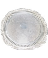ROUND SILVER TRAY  ENGRAVED by Wallace Baroque pattern - $149.99