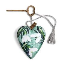 DEMDACO Hopeful Beautiful Soul Green 4 x 3 Resin Stone Art Heart Locket ... - £15.87 GBP