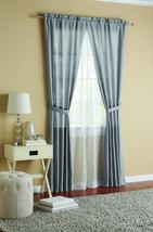 Mainstays Luna Curtain Panel Silver, 4 Piece Set: 2 Voile & 2 Solid Panels - $22.76