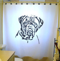 SHOWER CURTAIN Dog Dogue De Bordeaux Mastiff Bulldog - $99.99
