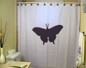 SHOWER CURTAIN animal Butterfly moth monarch pretty 2