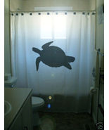 SHOWER CURTAIN animal Turtle Sea tortoise - $65.00