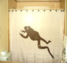 SHOWER CURTAIN animal Frog toad Jumping amphibian - $65.00