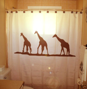 SHOWER CURTAIN animal Giraffes africa giraffe kenya