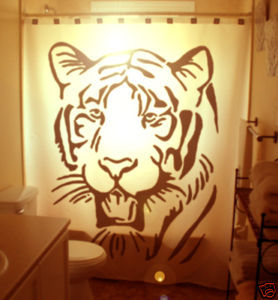 SHOWER CURTAIN Tiger big cat Panthera tigris Bengal