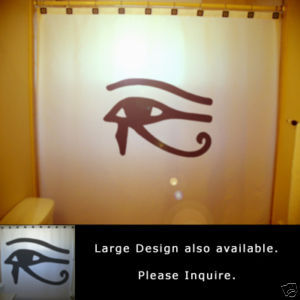 SHOWER CURTAIN Eye of Horus Egyptian mythology Wedjat