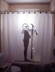 SHOWER CURTAIN Ptah Peteh of Thebes Egyptian God Ennead