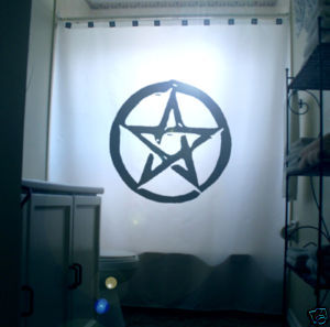 SHOWER CURTAIN Pentacle pentagram wicca pagan occult