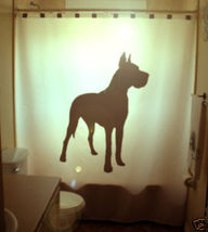 SHOWER CURTAIN Dog Great Dane German Mastiff Hound mutt - $65.00