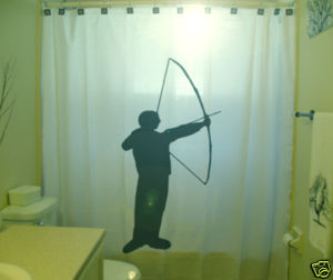 SHOWER CURTAIN sport Archer Archery Bow Arrow bullseye