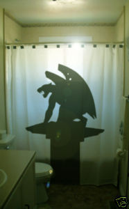 SHOWER CURTAIN Gargoyle Peunte Gargolas Valencia Spain