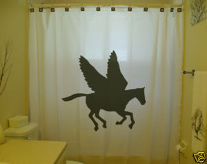 SHOWER CURTAIN animal Pegasus Flying Horse unicorn fly
