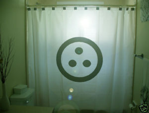 SHOWER CURTAIN sign Kharma good Karma Hinduism Hindu