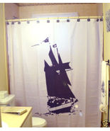 SHOWER CURTAIN Ship Boat sail sailing pirate nautical - $79.99