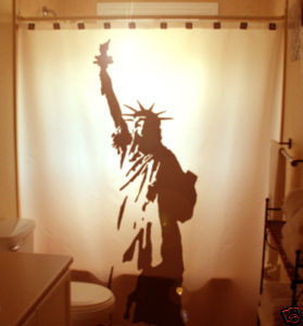 SHOWER CURTAIN monument Statue of Liberty New York 1886