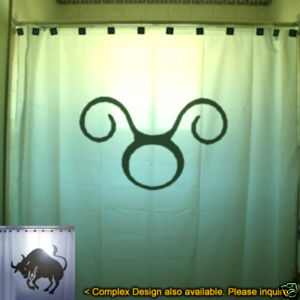 SHOWER CURTAIN zodiac sign TAURUS The Bull astrology