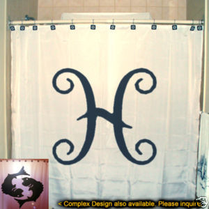 SHOWER CURTAIN zodiac sign PISCES The Fish astrology