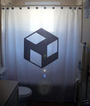 SHOWER CURTAIN sign Antahkarana healing energy dharma - $65.00