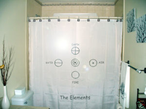 SHOWER CURTAIN Five Element earth air fire water spirit