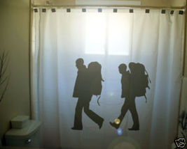 SHOWER CURTAIN backpackers hikers hiking backpack hike - $65.00