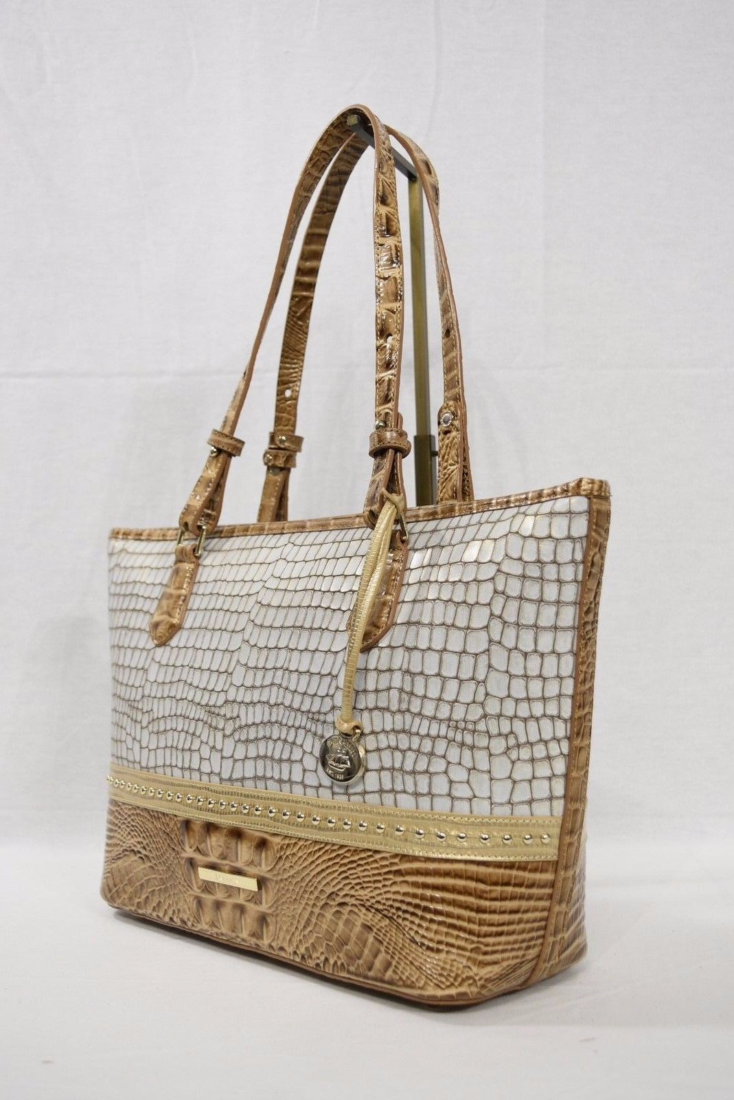 NWT Brahmin Medium Asher Tote/Shoulder Bag in Beige La Vega Tri-Texture - $289.00