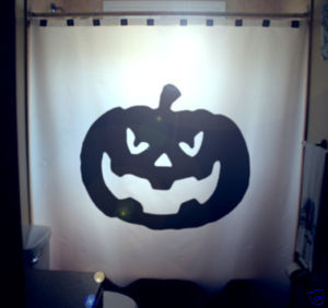 Halloween SHOWER CURTAIN Jack O Lantern Pumpkin horror