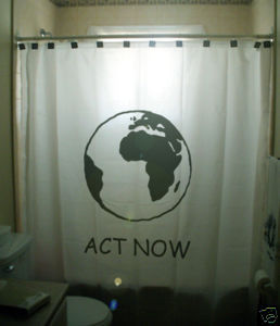 SHOWER CURTAIN earth Act Now environment activism green