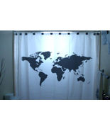 SHOWER CURTAIN Earth World Map our planet space view - $99.99