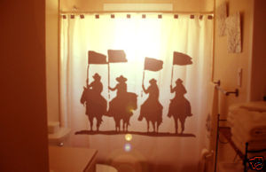 SHOWER CURTAIN Four Horsemen horse man men apocalypse