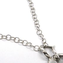 SILVER 925 NECKLACE, CHAIN ROLO', THREE DROPS HANGING, WORKED AND SMOOTH image 4
