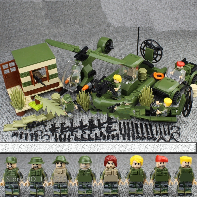 4 in 1 MILITARY Army SWAT Soldier Car Helicopter Navy Seal Team Marines Fit Lego for sale  USA