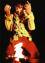 Jimi Hendrix  Guitar On Fire  Monterey Pop Festival   2.5 x 3.5 Fridge M... - $3.99