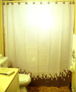 SHOWER CURTAIN humor funny Crowd of Fans watching you