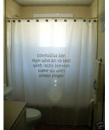 funny SHOWER CURTAIN humor Confucius Chinese Proverb - $79.97
