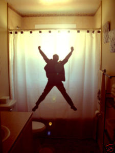 SHOWER CURTAIN inspirational YES! Happy Excited Man Guy