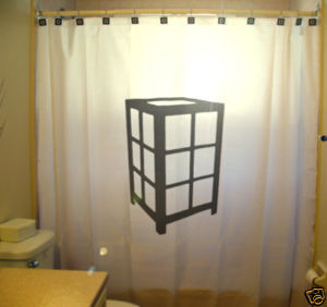 SHOWER CURTAIN Lantern Lamp table rice paper chinese