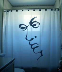 SHOWER CURTAIN Liar Face optical illusion man lying lie