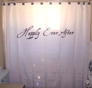 SHOWER CURTAIN romance Happily Ever After fairytale end
