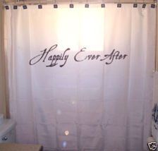 SHOWER CURTAIN romance Happily Ever After fairytale end - $65.00