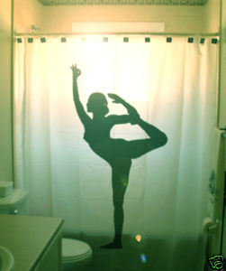 SHOWER CURTAIN Sexy Nude Naked Female Yoga Dancer